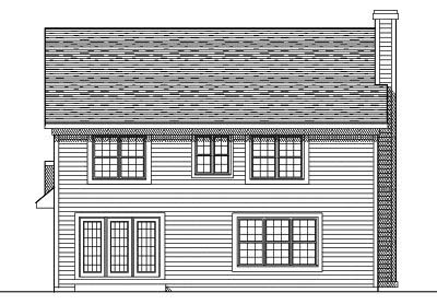 Rear Elevation Plan: 7-280