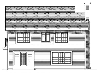 Rear Elevation Plan: 7-281