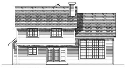 Rear Elevation Plan: 7-282