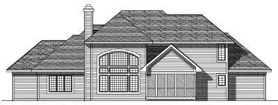 Rear Elevation Plan: 7-283