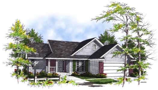 Traditional Style Floor Plans Plan: 7-285