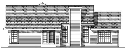 Rear Elevation Plan: 7-285