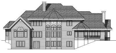Rear Elevation Plan: 7-286