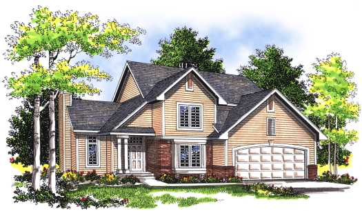 Traditional Style Home Design Plan: 7-287