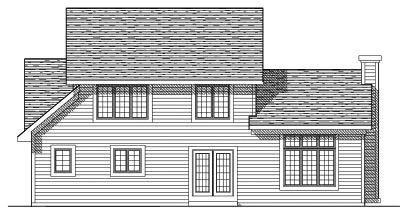 Rear Elevation Plan: 7-287