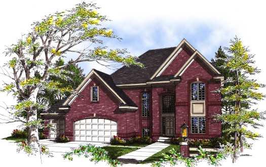 European Style House Plans Plan: 7-288
