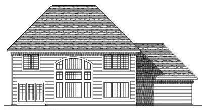 Rear Elevation Plan: 7-288