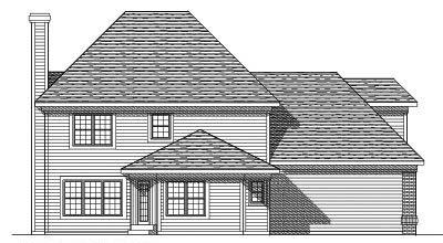 Rear Elevation Plan: 7-289