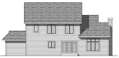 Rear Elevation Plan: 7-290