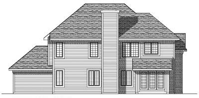 Rear Elevation Plan: 7-291