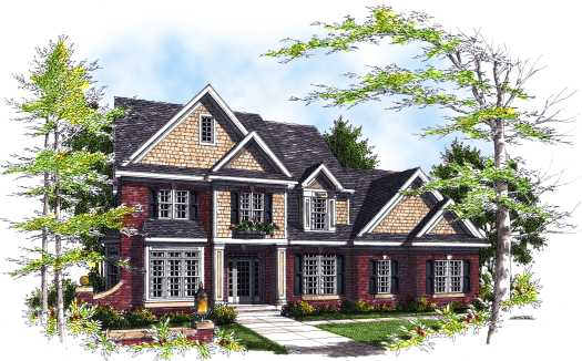 Shingle Style House Plans Plan: 7-293