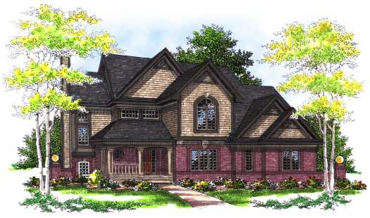 Shingle Style Home Design Plan: 7-294