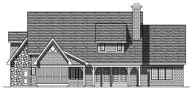 Rear Elevation Plan: 7-295