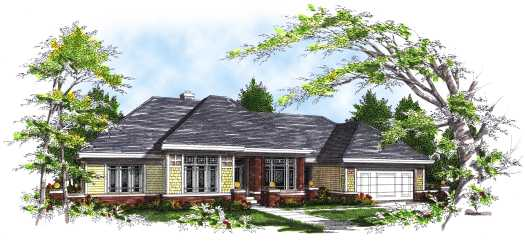 Traditional Style Home Design Plan: 7-297