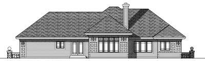 Rear Elevation Plan: 7-297