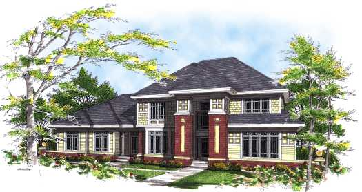 Prairie Style Floor Plans Plan: 7-298