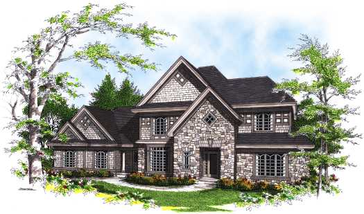 European Style House Plans Plan: 7-299