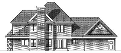 Rear Elevation Plan: 7-299