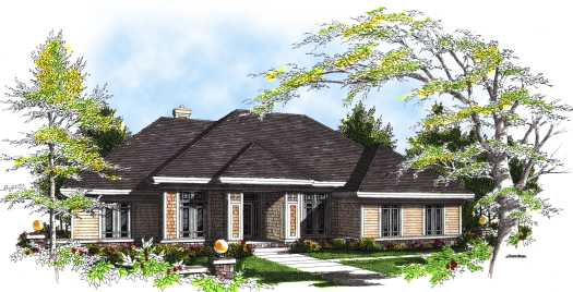 Prairie Style Floor Plans Plan: 7-301