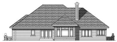 Rear Elevation Plan: 7-301