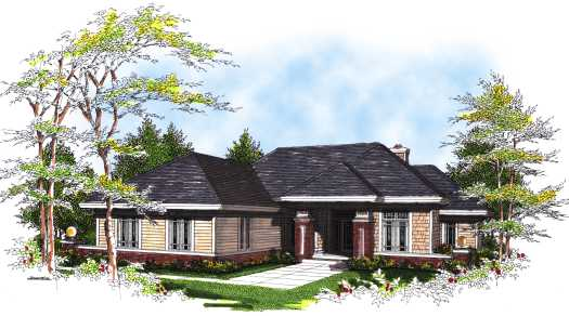 Traditional Style Home Design Plan: 7-302