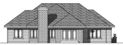 Rear Elevation Plan: 7-302