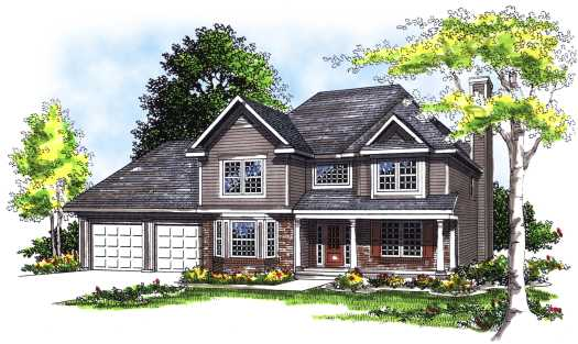 Traditional Style House Plans Plan: 7-303