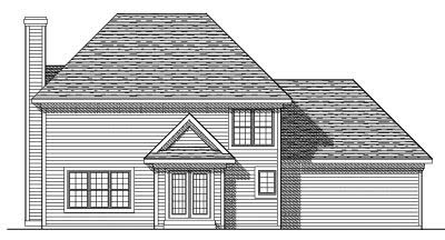 Rear Elevation Plan: 7-303