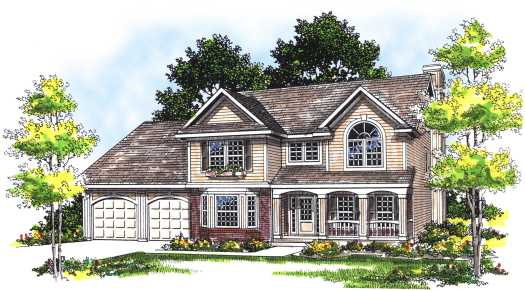 Traditional Style House Plans Plan: 7-304