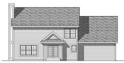 Rear Elevation Plan: 7-304