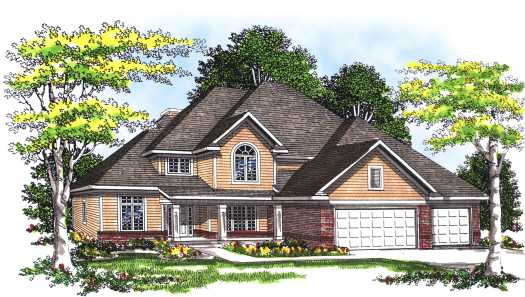 Traditional Style Home Design Plan: 7-305