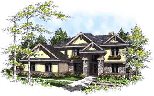 Prairie Style House Plans Plan: 7-306
