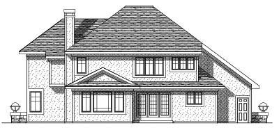 Rear Elevation Plan: 7-306