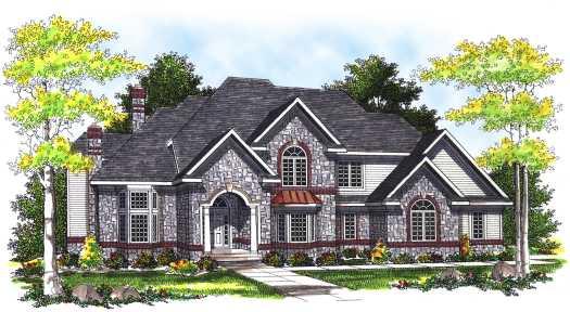 European Style House Plans Plan: 7-307
