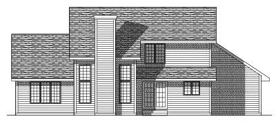 Rear Elevation Plan: 7-308