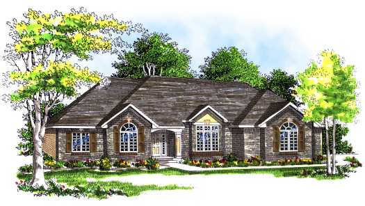 Traditional Style Home Design Plan: 7-309