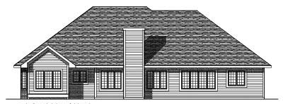 Rear Elevation Plan: 7-309