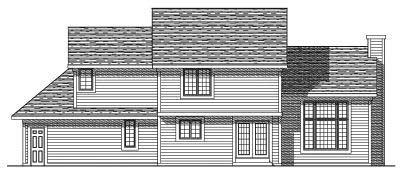 Rear Elevation Plan: 7-310