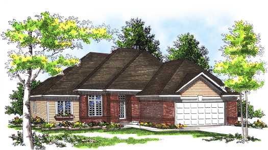 Traditional Style Home Design Plan: 7-313
