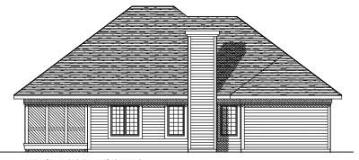 Rear Elevation Plan: 7-313