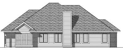 Rear Elevation Plan: 7-314