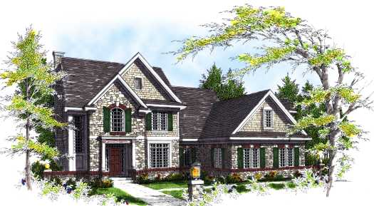 English-country Style Floor Plans Plan: 7-317