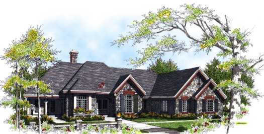 European Style House Plans Plan: 7-318