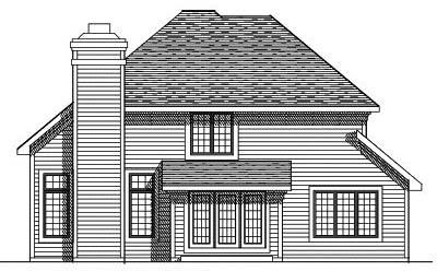 Rear Elevation Plan: 7-319