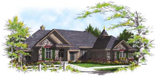 Country Style Floor Plans Plan: 7-320