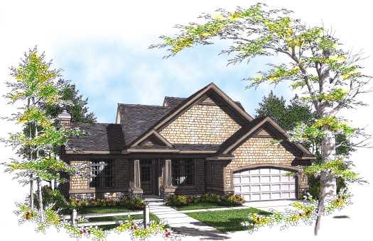 Craftsman Style Home Design Plan: 7-322