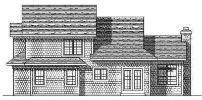 Rear Elevation Plan: 7-322