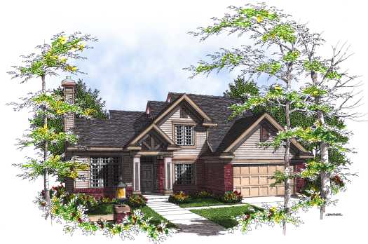 Country Style Floor Plans Plan: 7-323