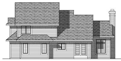 Rear Elevation Plan: 7-323