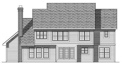 Rear Elevation Plan: 7-324